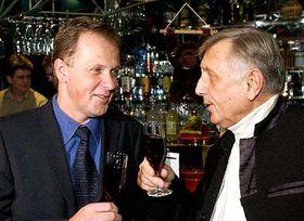 Director of TV Nova Petr Dvorak and Jiri Menzel, photo: CTK