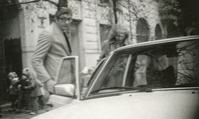 Abu Daoud pictured with a woman 24 hours before being forced to leave Czechoslovakia, photo: Czech Security Services Archive / Archival collections of SNB - files (SL), arch. no. SL-5698 MV