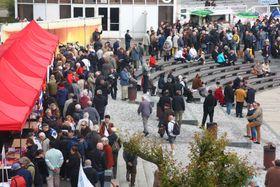 Communist Party held their May Day celebrations at the capital's Výstaviště exhibition grounds, photo: Štěpánka Budková