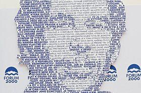 Портрет президента Вацлава Гавела, конференция Форум 2000, Фото: Марта Гузман, Чешское радио - Радио Прага