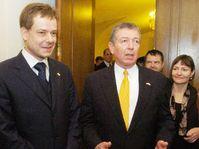 Pavel Nemec and John Ashcroft, Photo: CTK