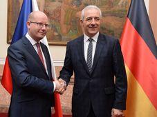 Bohuslav Sobotka y Stanislaw Tillich, foto: ČTK