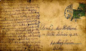 Tomáš Hrbek's postcard, photo: Tomáš Hrbek's family archive