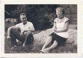 Jan Křížek avec sa femme Jiřina, Le Bartheil, 1965, photo: 'Jan Křížek - Mě z toho nesmí zmizet člověk'