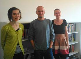 De izquierda: Veronika Vicherková, Petr Vorlík y Klára Brůhová foto: Dominika Bernáthová