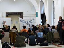 Klimastreik an der Karlsuniversität (Foto: Claudia Wiggenbröker)