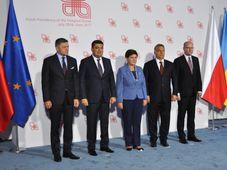 La rencontre des chefs de gouvernement du groupe de Visegrád à Krynice, photo: ČTK