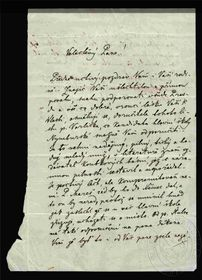 Une lettre de Božena Němcová, photo: eSbírky / Museé national