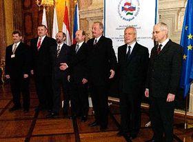Visegrad Four leaders in Prague, photo: CTK