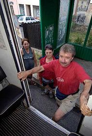 2. srpna dopravoval cestující zTelnice dobrovolný sbor hasičů, foto: ČTK