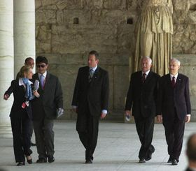 Atenas, Svoboda, Klaus, Spidla, foto: CTK