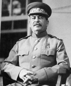 Stalin, photo: U. S. Signal Corps, Wikimedia Commons Free Domain