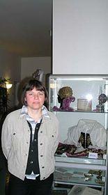 Jitka Scholzová na mnichovské výstavě, foto: autorka