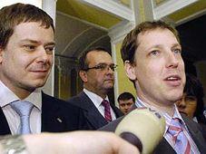 Pavel Nemec, Jan Kohout und Miroslav Kalousek (v.l.n.r.) Foto: CTK