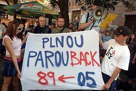Demonstration in Brno, photo: CTK