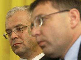 Vladimir Spidla and Lubomir Zaoralek, photo: CTK