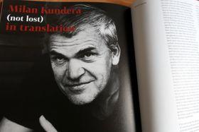 Reprofoto zpublikace Milan Kundera (neztracen) vpřekladech
