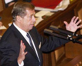 Václav Havel en la Cámara de diputados, Foto: CTK