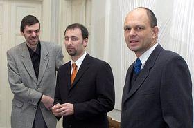 Jiří Slezák, Zdeněk Hirnšal, Martin Laštovička (left to right), photo: CTK