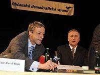 Pavel Bém y Mirek Topolánek (Foto: CTK)