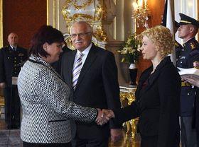 Hana Šedivá (à gauche), photo: CTK