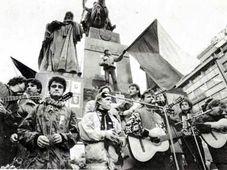 17. listopad 1989 na Václavském náměstí v Praze