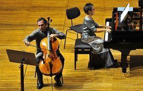La pianiste Maria Joao Pires et le violoncelliste Pavel Gomziakov, photo: CTK