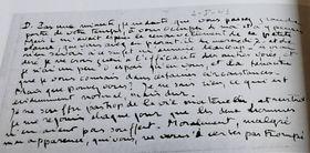 Une lettre de Colette à Pierre Drieu, photo: repro, Ladislava Chateau, 'Colette má drahá, vy víte, co máte udělat...' / Sumbalon