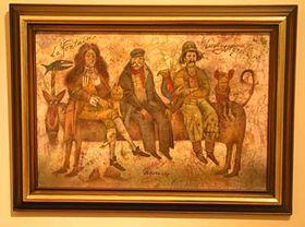 """""""La Fontaine, Adolf Born y Livingstone""""    (de izquierda a derecha)               Foto: autor"""
