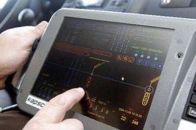 Zařízení vyhodnocující informace oprojíždějících automobilech, foto: ČTK