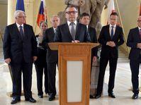 Los ministros de Relaciones Exteriores del Grupo de Visegrád y sus colegas de Francia y Alemania reunieron en Praga, foto: ČTK