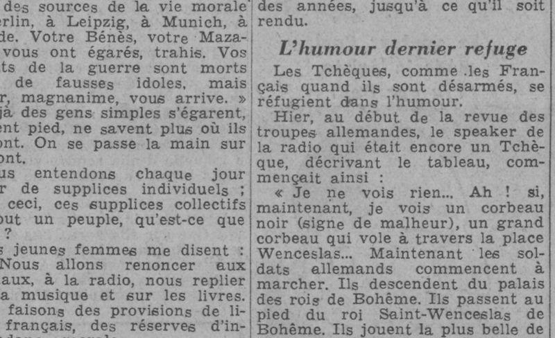 Le reportage de František Kocourek au journal Paris Soir