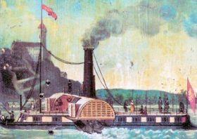 Le bateau à vapeur Bohemia