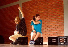 Václav Wortner y Olga Mikulská durante la representación, foto: Tamara Allina