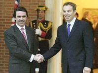 José María Aznar (left) and Tony Blair, photo: CTK