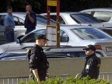 Polizeiwache im Stadtzentrum Prags (Foto: CTK)