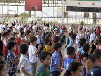 Kinder in Syrien (Illustrationsfoto: ČTK / AP / Ugur Can)