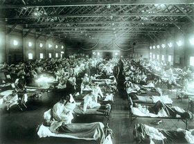 La grippe espagnole, photo: National Museum of Health and Medicine, Armed Forces Institute of Pathology, Washington, D.C., United States, CC BY 2.5