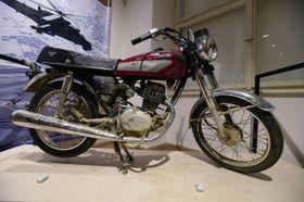 Мотоцикл террориста-смертника - экспонат периода новейшей истории страны, Фото: ЧТК