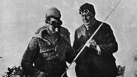 Umberto Nobile, František Běhounek (right)