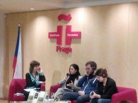 Presentación del libro 'El Dinero de Hitler' en el Instituto Cervantes de Praga, foto: Dominika Bernáthová