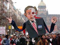 Prague's antiwar protests, Photo: CTK
