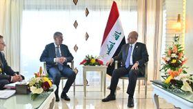 Andrej Babiš con el presidente deIraq, Barham Saleh, foto: archivo de la Oficina del Gobierno Checo