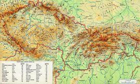Checoslovaquia, fuente: Kartografie Praha