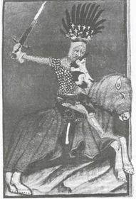 Ян Люксембургский в битве при Креси