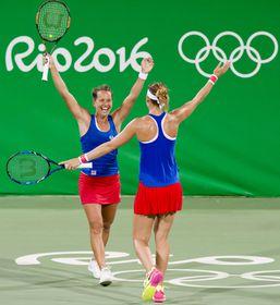 Barbora Strýcová and Lucie Šafářová, photo: ČTK