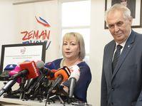 Miloš Zeman and his wife Ivana, photo: CTK