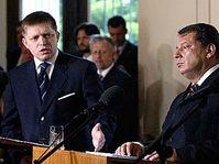 Robert Fico a Jiří Paroubek, foto: ČTK