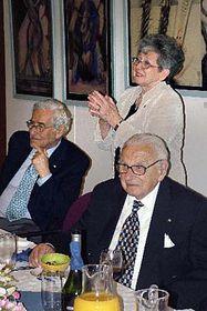Sir Nicholas Winton, Lady Milena Grenfell-Baines and Canadian journalist Joe Schlesinger, photo: CTK