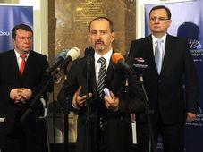 Zleva Martin Kocourek, Martin Kuba a Petr Nečas, foto: ČTK